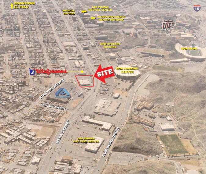 Aerial photo of El Paso
